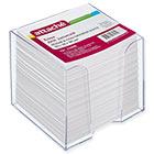 Блок для записей Attache 90x90x90 мм белый в прозрачном боксе (белизна 92-100%)